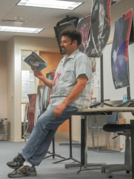 Neal Shusterman reads from one of his books