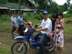 Getting a ride on a motorcycle