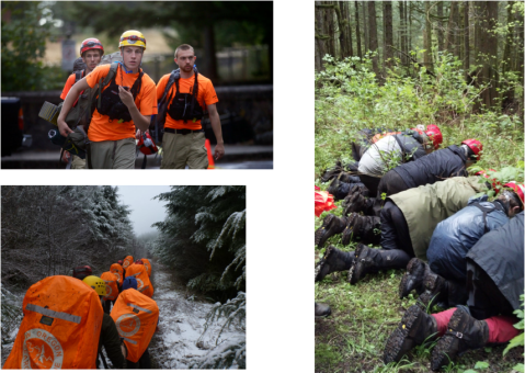 Multnomah County Sheriff's Office Search and Rescue <br>Photo courtesy of April Henry