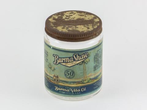 Burma-Shave jar