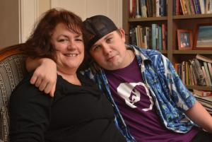 www.gazettenet.com  Cammie McGovern with her son, Ethan, at her home in Amherst June 10.