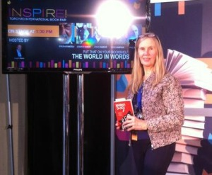 Jennifer presenting Red Wolf at INSPIRE!   The Toronto International Book Fair, November 2014