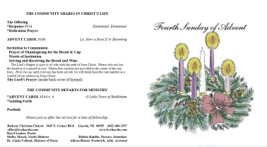 Church Bulletin (Front, Back)